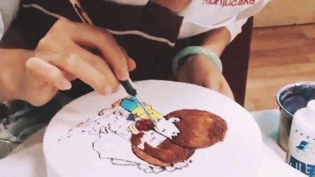 手绘漫画生气蛋糕视频 婚礼蛋糕 蛋糕培训课程 妞妞国际西点学校