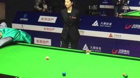 上海2017斯诺克大师赛,美女裁判!