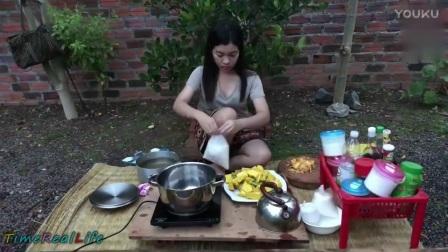 新鲜南瓜如何烹饪, 农村表姐简单一招, 几分钟做好一道南瓜美食_高清