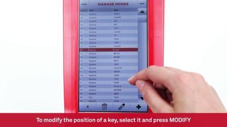 Keyline Camillo Bianchi Reader - 地区选择,钥匙位置管理和软件更新