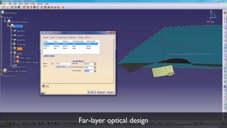 抬头显示光学设计 SPEOS CAA V5 Based – Hud Optical Design
