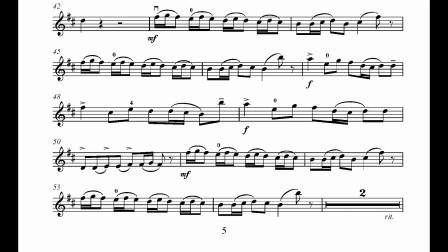 里丁格b小调小提琴协奏曲第三乐章