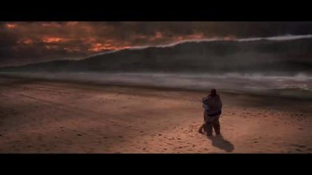 电影《天地大冲撞》陨石撞击地球导致巨大海啸片段