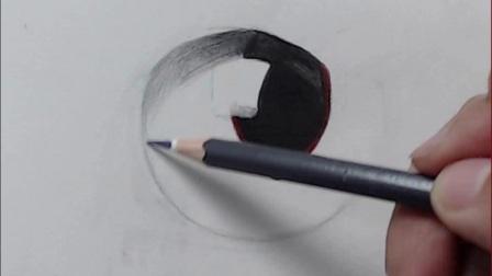 彩铅画图片临摹 猫眼睛