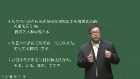 2018教师招聘考试小学美术专业考试视频【小学美术】_艺术概论(二)