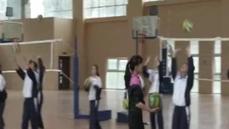 高中体育《排球正面上手传球、素质练习》教学视频,黄云