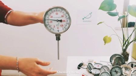 WSS-411径向型双金属温度计bottom connection bimetal thermometer