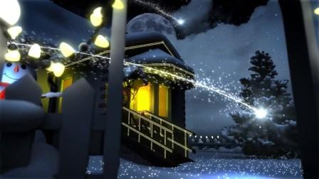 AE模板-三维场景庆祝圣诞节片头动画雪球房子圣诞树Christmas 免费下载