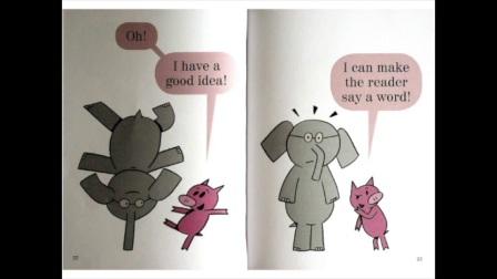 儿童英文睡前故 我们在一本书里 小猪小象 We are in a Book