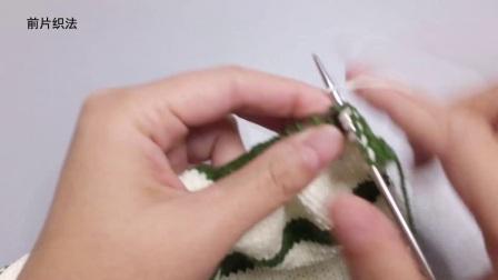 毛儿手作棒针编织宝宝毛衣撞色套头毛衣教程怎样编织织法图解
