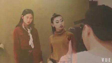 模特平面拍摄服装花絮
