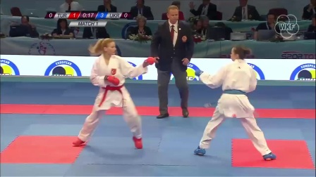 WKF 2017 European Championships Female Team Kumite Final
