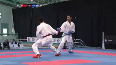 WKF 2017 Germanopen Male Kumite -67kg Semifinal Hordan Thomas vs Saeid Ahmd