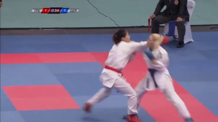 WKF 2017 Germanopen Female Kumite -55kg Final Jana Bitsch(GR) vs Wen(TPE)