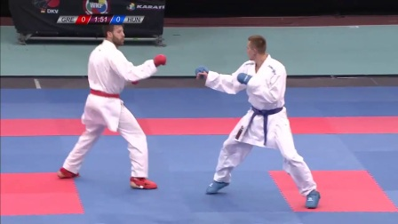 WKF 2017 Germanopen Male Kumite -84kg Bronze M, G Tzanous(GRE) vs Chobotar(HUN)