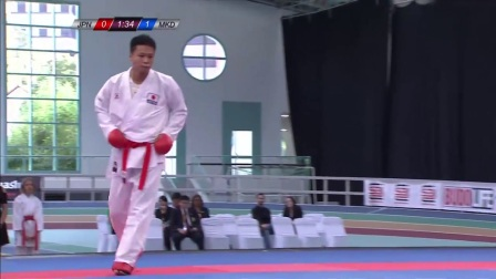 WKF 2017 Germanopen Male Kumite -84kg Bronze match Koike(JP) vs Jakupi (MKD)