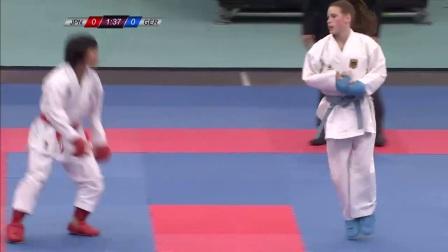 WKF 2017 Germanopen Female Kumite -50kg Final Shara Hubrich(GER) vs Miyahara(JP)