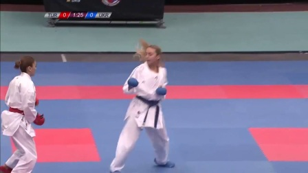 WKF 2017 Germanopen Female Kumite -50kg Bronze A.Terluyga(UKR) vs Takan(TUR)