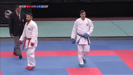 WKF 2017 Germanopen Male Kumite -84kg A.Mamayev(AZE) vs A.Aliev(RUS)