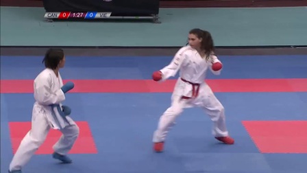 WKF 2017 Germanopen Female Kumite -61kg Nguyen Thi Ngoan(VET) vs Haya Jumaa(Can)
