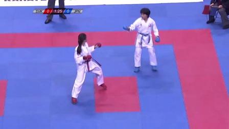 WKF 2017 CADET Junior Female Kumite -53kg Bronze A.Shima(JP) vs D.Bogarowa(SVK)