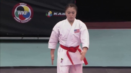 WKF 2017 Germanopen Feale Kata Bronze Sandras Sunchez(SP) vs Sakura Kokumai(US)