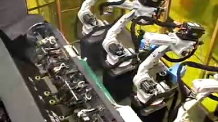 4机三轴变位机同步协调焊接