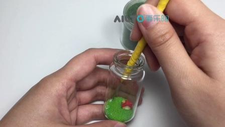 爱乐陶手工视频-创意软陶瓶中景气球小屋