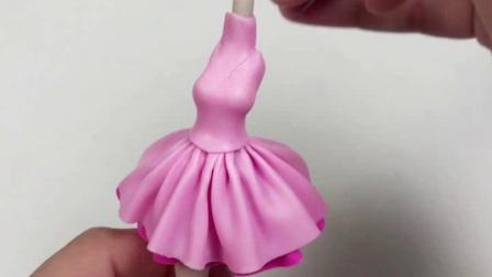 爱乐陶手工视频-创意软陶人偶芭蕾小女孩