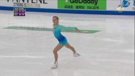 Serafima Sakhanovich SP 2017 Skate America(NBC)