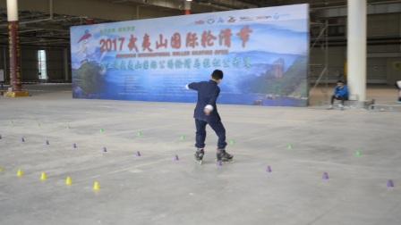 武夷山国际轮滑公开赛深圳市新华中学Ellen轮滑队-少男花桩彭耀霆