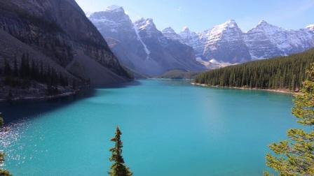 加拿大艾伯塔省班夫国家公园梦莲湖