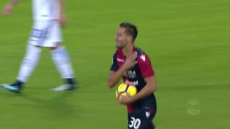 Il gol di Pavoletti - Cagliari - Inter 1-3 - Giornata 14