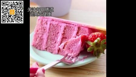 三种创意甜品 草莓 树莓 牛奶 可可 芝士 柠檬蛋糕