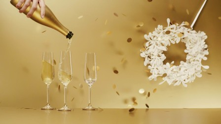 名士温暖圣诞之香槟