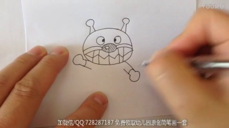 师讯网_儿童简笔画面包超人系列2
