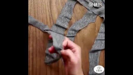 用旧衣服做成地垫或者杯垫,喜欢的可以学学哦!