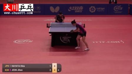早田希娜vs田志希【2017国际乒联西班牙挑战赛】