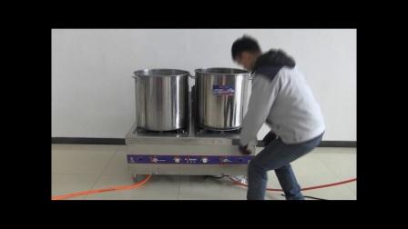 威猛达复底节能汤桶PK普通汤桶节能对比