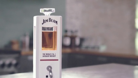 Jim Beam _ _JIM,_ The World's First Intelligent Bourbon Decanter