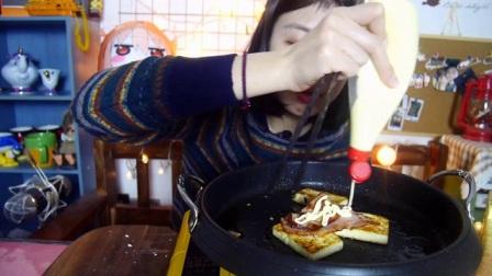 【上海up软软】烤芝士 烤奶酪 烤培根!咀嚼音 吃货 吃播 美食 偶尔 大胃王