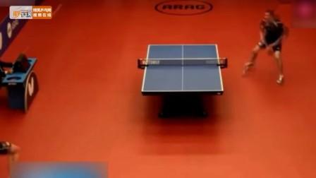 乒乓球神操作的一球,看完后球迷和解说都沸腾了!
