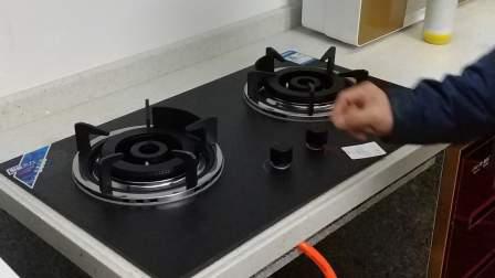 厨妃 CF_TB52嵌入式燃气灶 160大炉头 铜火盖 10厘高温陶瓷面板 热电偶熄保