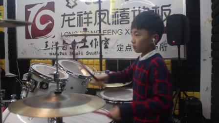 常州王潘现代音乐中心架子鼓-陈恺晗《着魔》