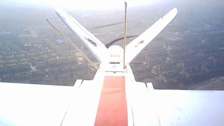 小胖空中飞行测试放下襟翼