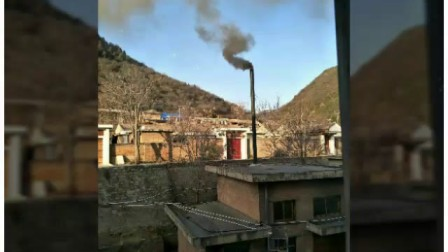 陕西延安市黄龙县烟草公司老式锅炉取暖现状,