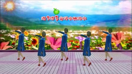 利民村杨巷广场舞【爸爸的村庄】编舞:青儿。演示制作:琴姐