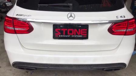 STONE(巨石排气)奔驰S205 C43双电子阀门中尾段