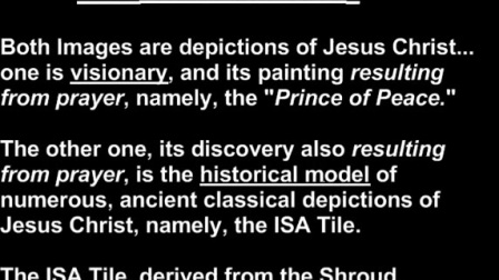 Comparison of the ISA Tile, Prince of Peace and Shroud of Turin