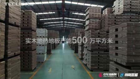 中华地板网 拍摄天格地暖实木地板 练市生产基地